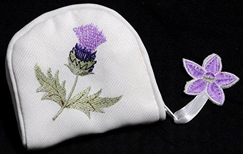 Alba Thistle Embroidered Jewellery Purse