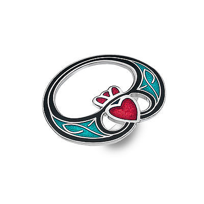 Celtic Claddagh Modern Enamel Scarf Ring - Gift Boxed