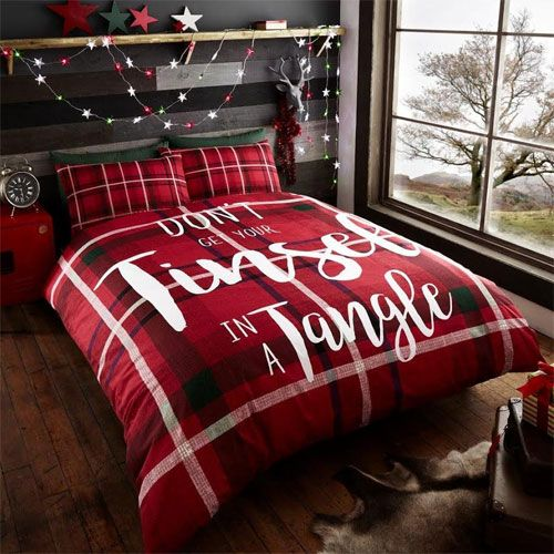 Christmas Don't Get Your TInsel In A Tangle Duvet Set - Double