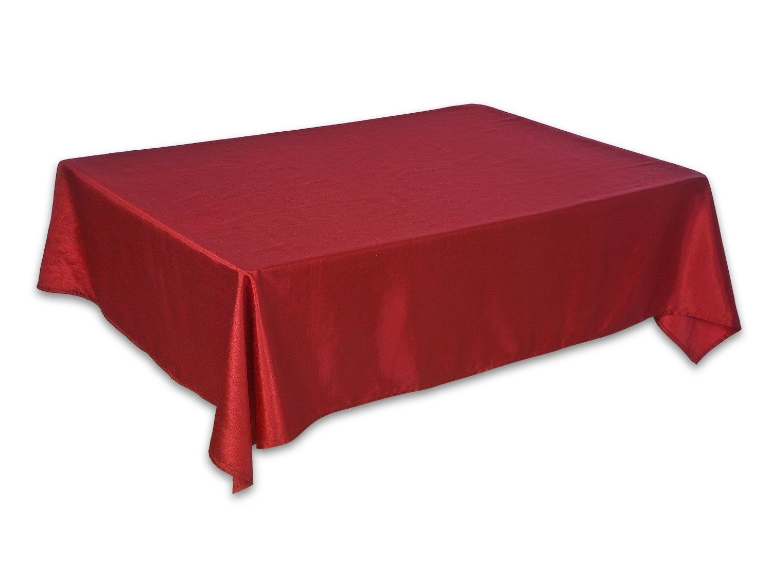 Christmas Shiny Red Table Cloth   Available In 2 Sizes .