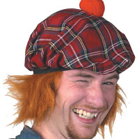 Musical See You Jimmy Hat (Red Tartan)