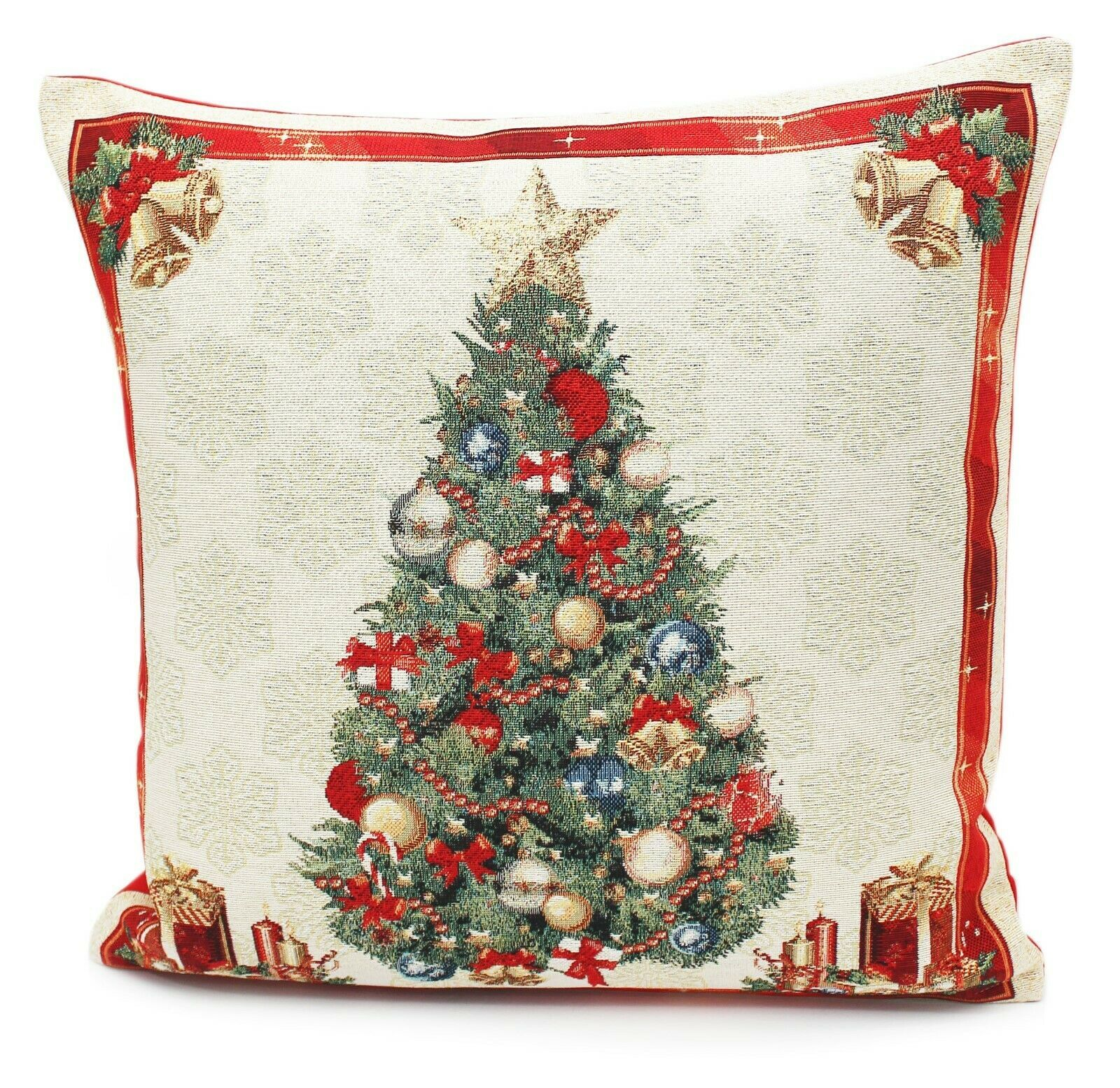 Deck The Halls Christmas Tapestry Country Style Cushion