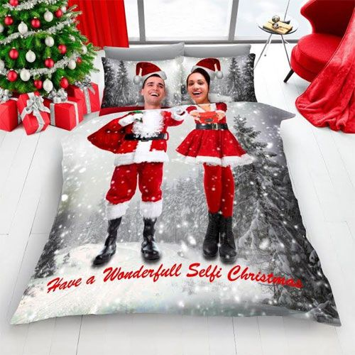 Have a Wonderful Selfie Christmas Duvet Set - King