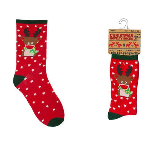 Ladies Christmas Novelty Cotton Rich Socks