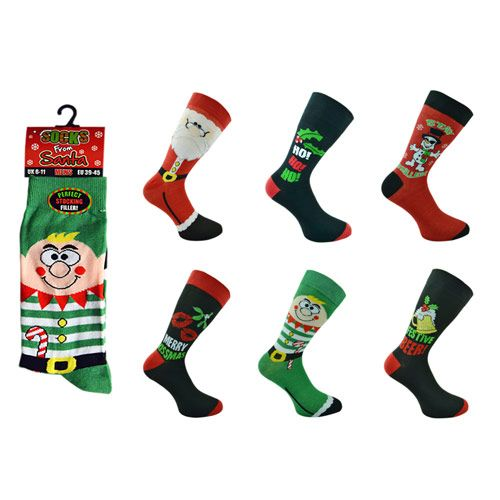 Mens Novelty Christmas Socks UK 6-11 EU 39-45