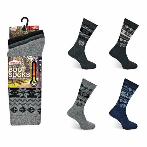 Mens Prohike Knitted Wool Blend Thermal Boot Socks 3 Pack - UK Size 6-11