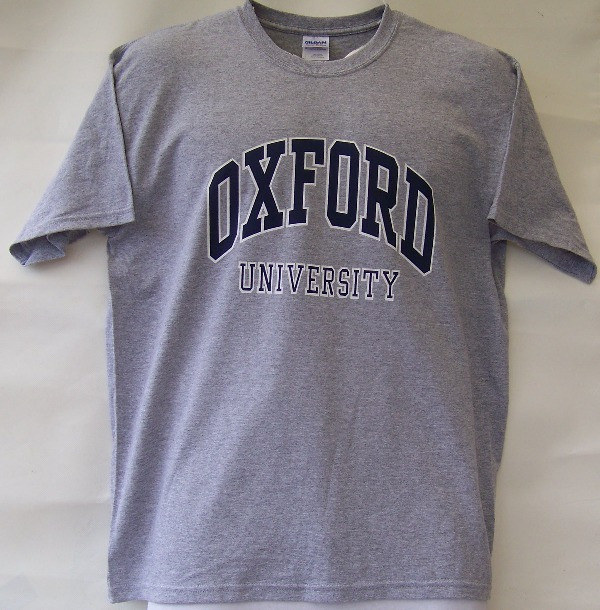 Oxford university t shirt for University t shirts with your name