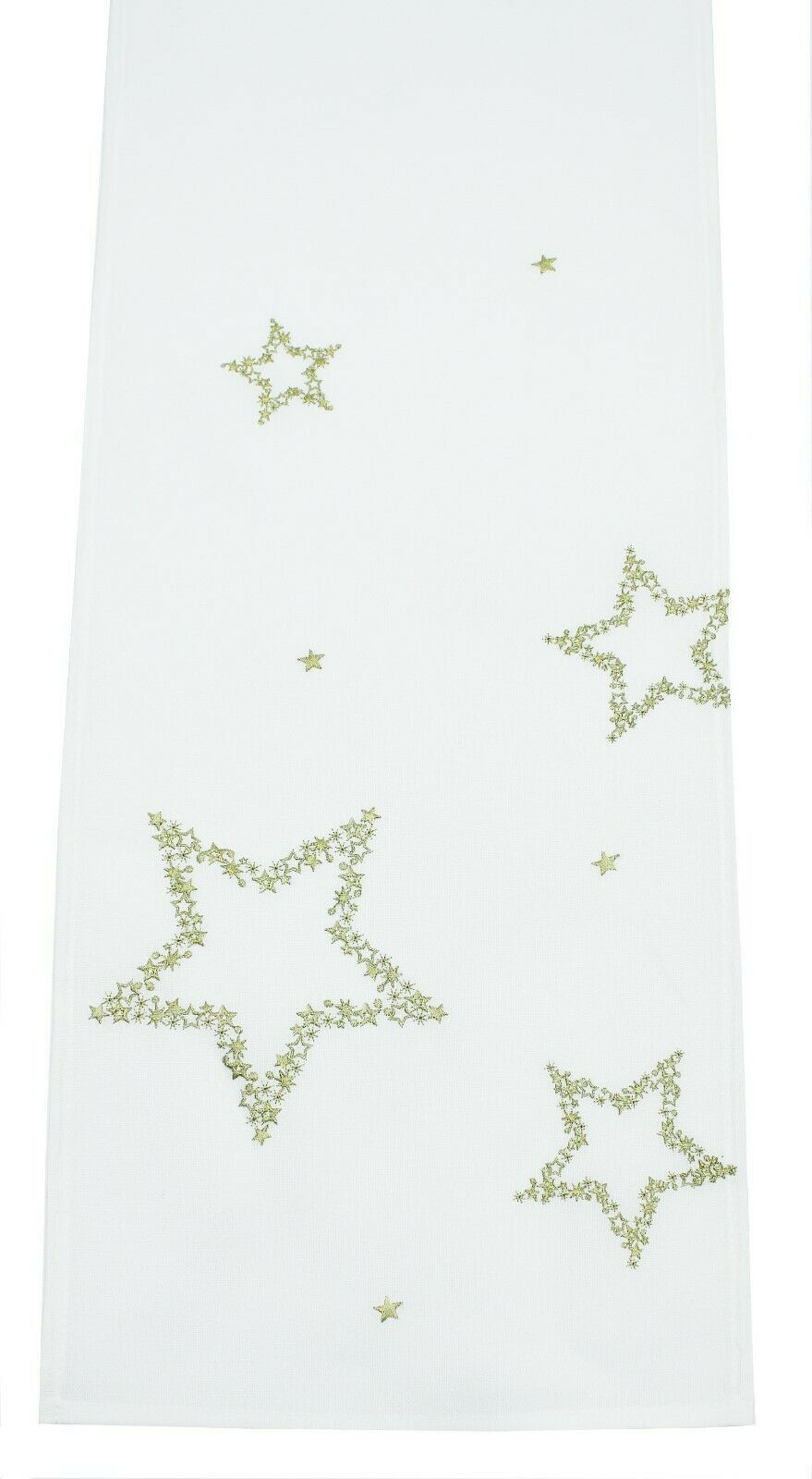 Christmas Table Runner Uk.Polaris Embroidered Gold Stars Christmas Table Runner 33cm X 178cm